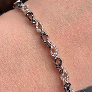 Zales 1 CTW SSL Tennis Bracelet Black Diamonds